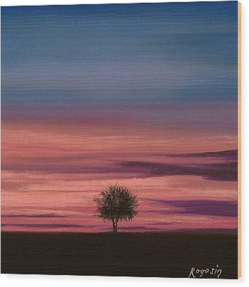 The Colors Of The Night Wood Print by Harvey Rogosin