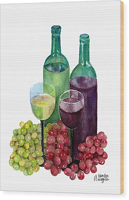 The Colors Of Wine Wood Print by Arline Wagner