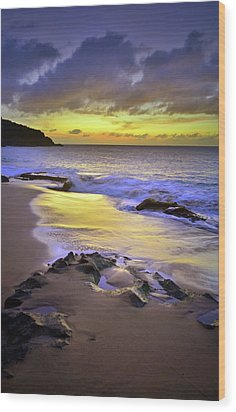 Wood Print featuring the photograph The Colour Of Molokai Nights by Tara Turner