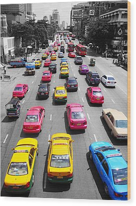 The Colours Of Bangkok Wood Print by Kelly Jones