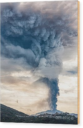 The Column Wood Print by Giuseppe Torre