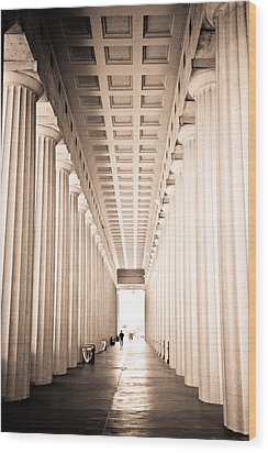 The Columns At Soldier Field Wood Print