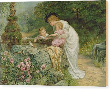 The Coming Nelson Wood Print by Frederick Morgan