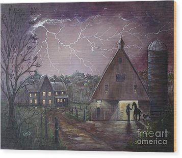 The Coming Storm Wood Print by Marlene Kinser Bell