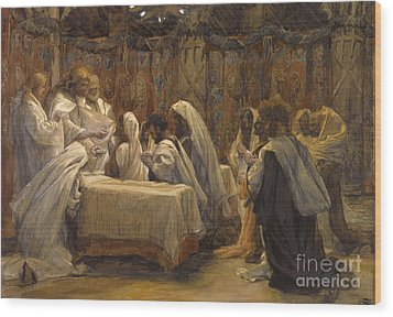 The Communion Of The Apostles Wood Print by Tissot