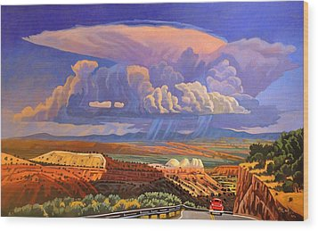 Wood Print featuring the painting The Commute by Art West