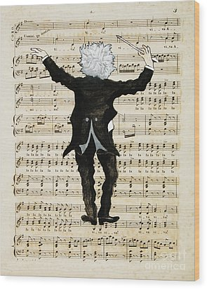 The Conductor Wood Print by Paul Helm