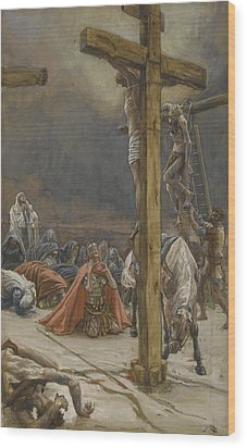 The Confession Of Saint Longinus Wood Print by Tissot