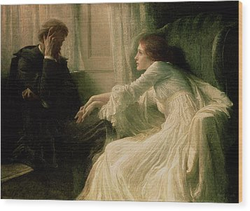 The Confession Wood Print by Sir Frank Dicksee