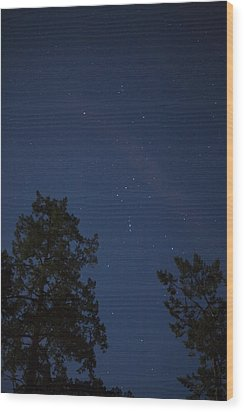 The Constellation Orion At Night Wood Print by Taylor S. Kennedy