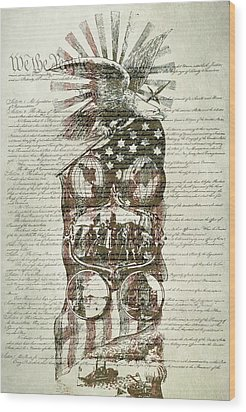 The Constitution Of The United States Of America Wood Print by Dan Sproul