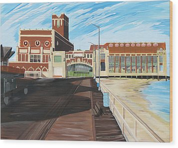 The Convention Hall  Asbury Park  Wood Print by Patricia Arroyo