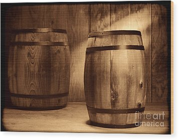 The Coopersmith Shop Wood Print by American West Legend By Olivier Le Queinec
