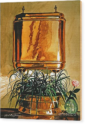 The Copper Lavabo Wood Print by David Lloyd Glover