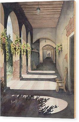 The Corridor 2 Wood Print by Sam Sidders
