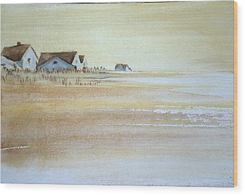 the cottages on BH Island Wood Print by Amy Bernays