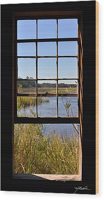 The Cotton Dock Wood Print by Melissa Wyatt