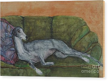 The Couch Potatoe Wood Print by Frances Marino