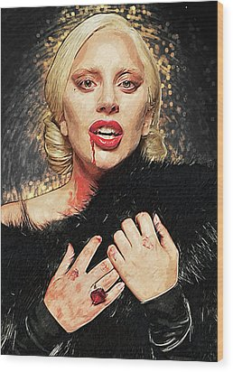 Wood Print featuring the digital art The Countess - American Horror Story by Taylan Apukovska
