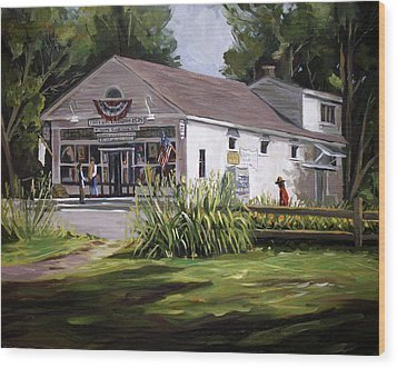 Wood Print featuring the painting The Country Store by Nancy Griswold
