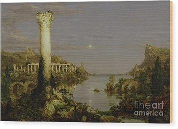 The Course Of Empire - Desolation Wood Print by Thomas Cole
