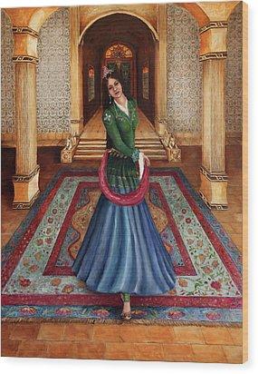 The Court Dancer Wood Print