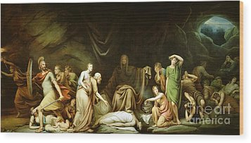 The Court Of Death Wood Print by Rembrandt Peale