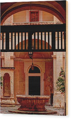 The Court Yard Malta Wood Print