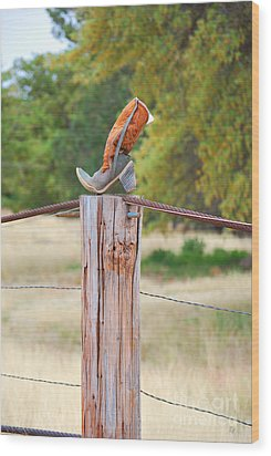 Wood Print featuring the photograph The Cowboy Boot by Donna Greene