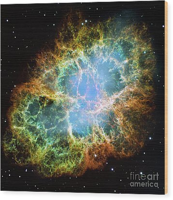 The Crab Nebula Wood Print
