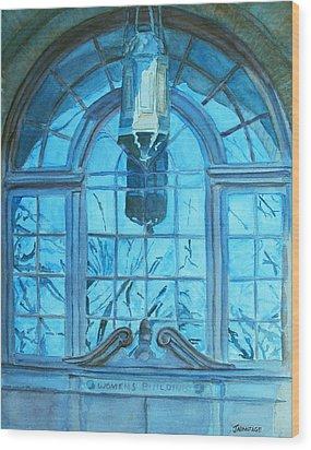 The Craftsmen Lantern Wood Print by Jenny Armitage