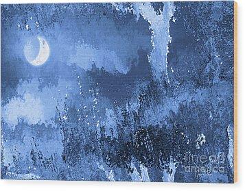 The Crescent Moon Wood Print