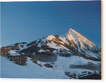 The Crested Butte Wood Print by Jerry McElroy