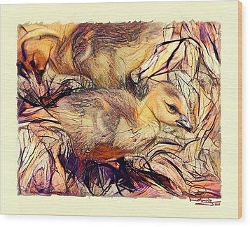 The Critic Wood Print