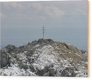 The Cross At Shipka Wood Print