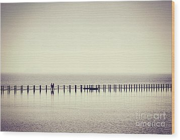 Wood Print featuring the photograph The Crossing by Colin and Linda McKie