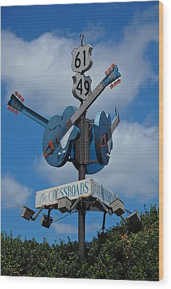 The Crossroads Wood Print