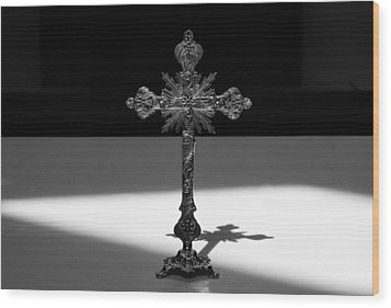 Wood Print featuring the photograph The Cross's Shadow by Monte Stevens