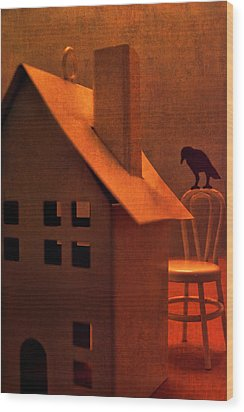 The Crows House Wood Print by Jeff  Gettis