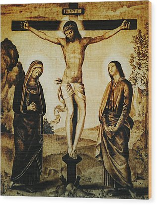 The Crucifixion Wood Print by Dino Muradian