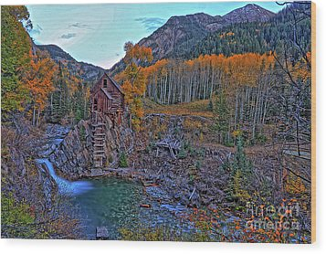 Wood Print featuring the photograph The Crystal Mill by Scott Mahon