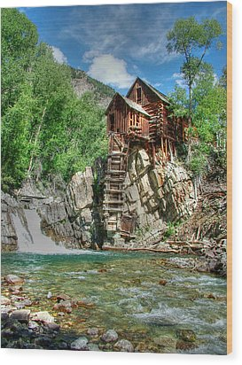 The Crystal Mill In Crystal Colorado Wood Print by Ken Smith