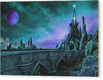 Wood Print featuring the painting The Crystal Palace - Nightwish by James Christopher Hill