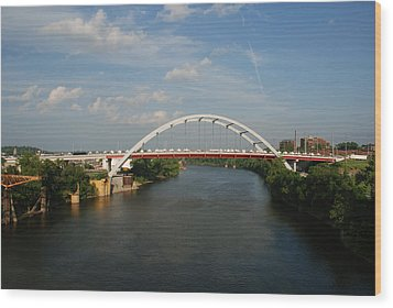 The Cumberland River In Nashville Wood Print by Susanne Van Hulst