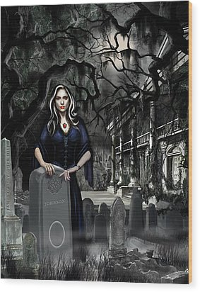 The Curse Of Johnson Bayou Wood Print by James Christopher Hill