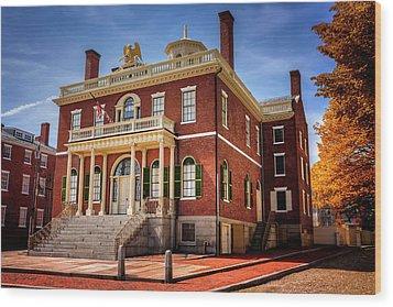 Wood Print featuring the photograph The Custom House Salem Massachusetts  by Carol Japp