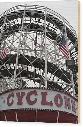 The Cyclone At Coney Island Wood Print by Christopher Kirby