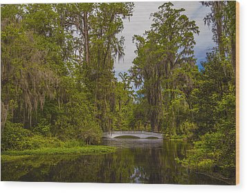 The Cypress Garden Wood Print by Steven Ainsworth