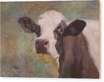 Wood Print featuring the mixed media The Dairy Queen by Colleen Taylor