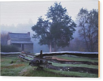 Wood Print featuring the photograph The Dan Lawson Place by Lana Trussell
